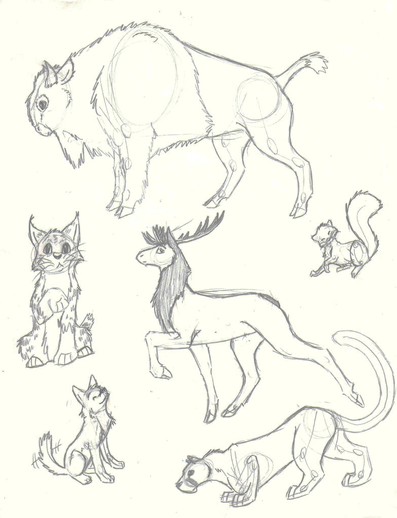 Mixed Animals Drawings Hybrid Animal Drawings Wolf