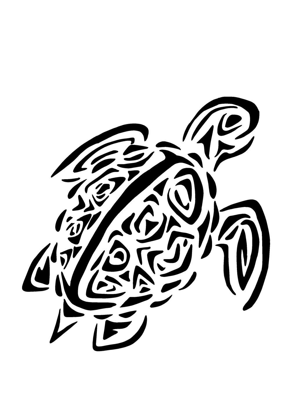 Hawaiian turtle designs color - photo#7