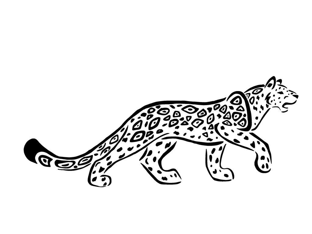 Big Cat Tattoos Line Art
