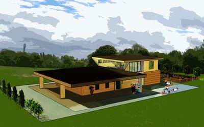It's a house by Art-in-heart4va