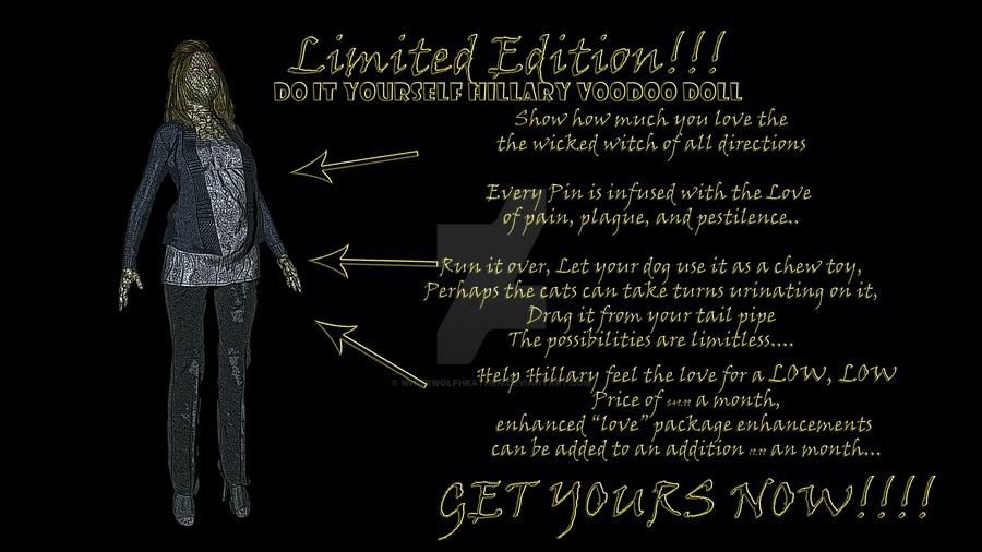 Do it yourself Hillary Voodoo Doll by Whitewolfheathen