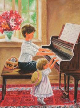 Kids on Piano