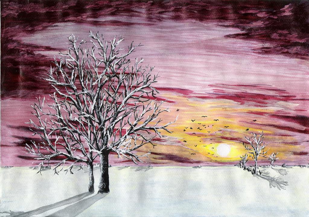 Winter Scenery by sDoost