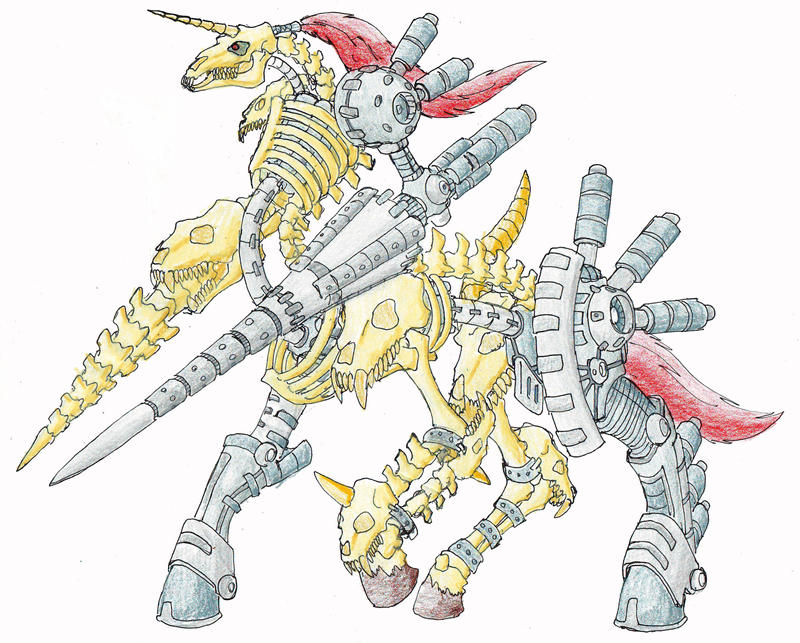 The Cyber-Necro Horseman by darksilvania