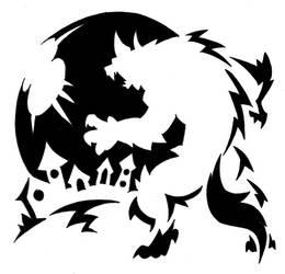 Werewolf carving template by Darksilvania