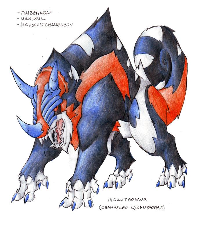 Lycantrosaur by darksilvania