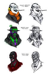 Batmans Rogues Gallery 4 by Darksilvania