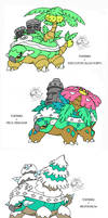 Torterra's Alola forms/Crossbreed by Darksilvania