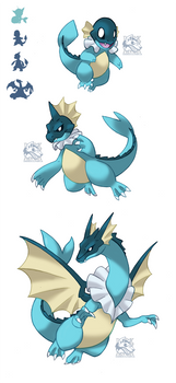 PokeFusion Vaporeon-Char Family