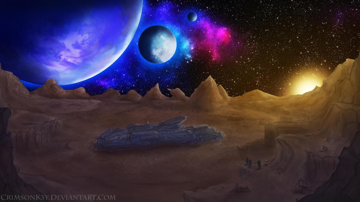 Derelict Spaceship by CrimsonK3y