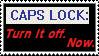 CAPS LOCK STAMP by Master-Ziggy