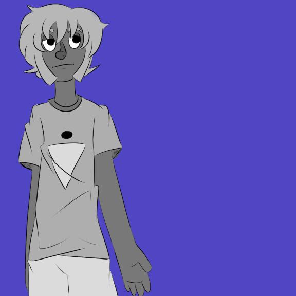 monochrome boy by Lucky-Black-Cat