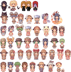 Some Chibi-Sprites by MadeaGwyn