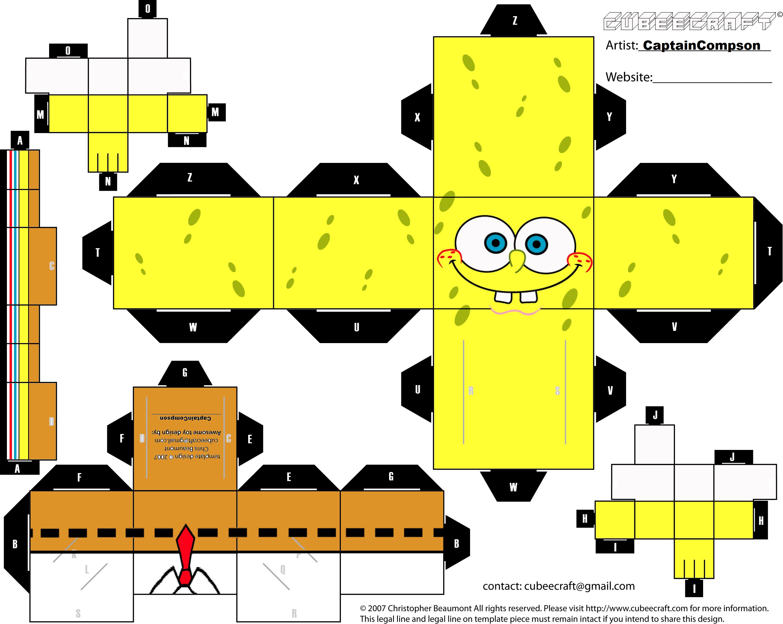 Spongebob Cubeecraft by captaincompson