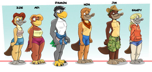 Platypuses and Friends Height Chart by GreyOfPTA