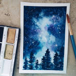 Galaxy painting by Stop-wasting-time