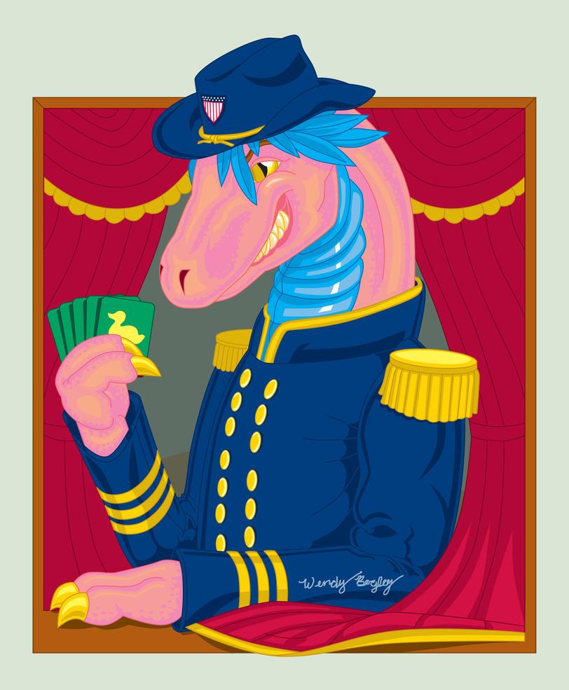 Egoraptor, the Captain by WendysKaleidoscope