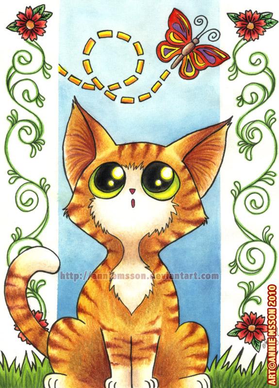 Flutterbye Kitten by AnnieMsson