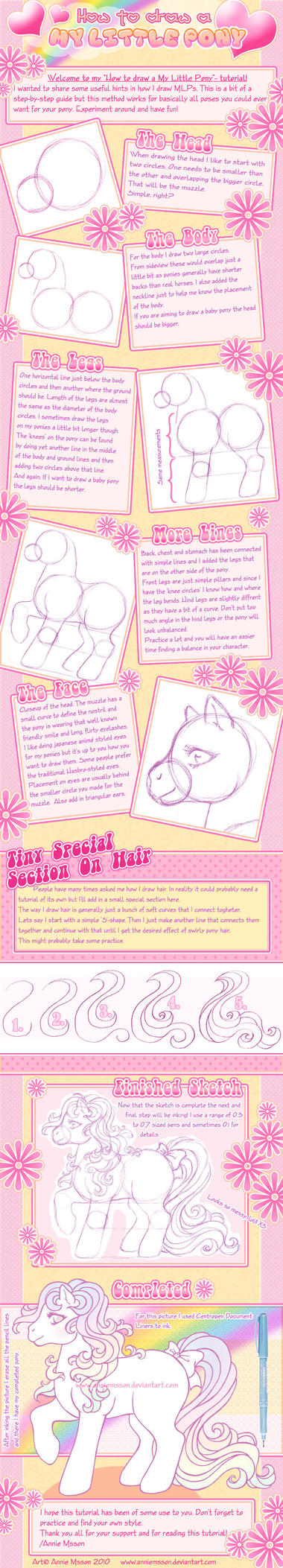 How to draw a MLP -Tutorial by AnnieMsson