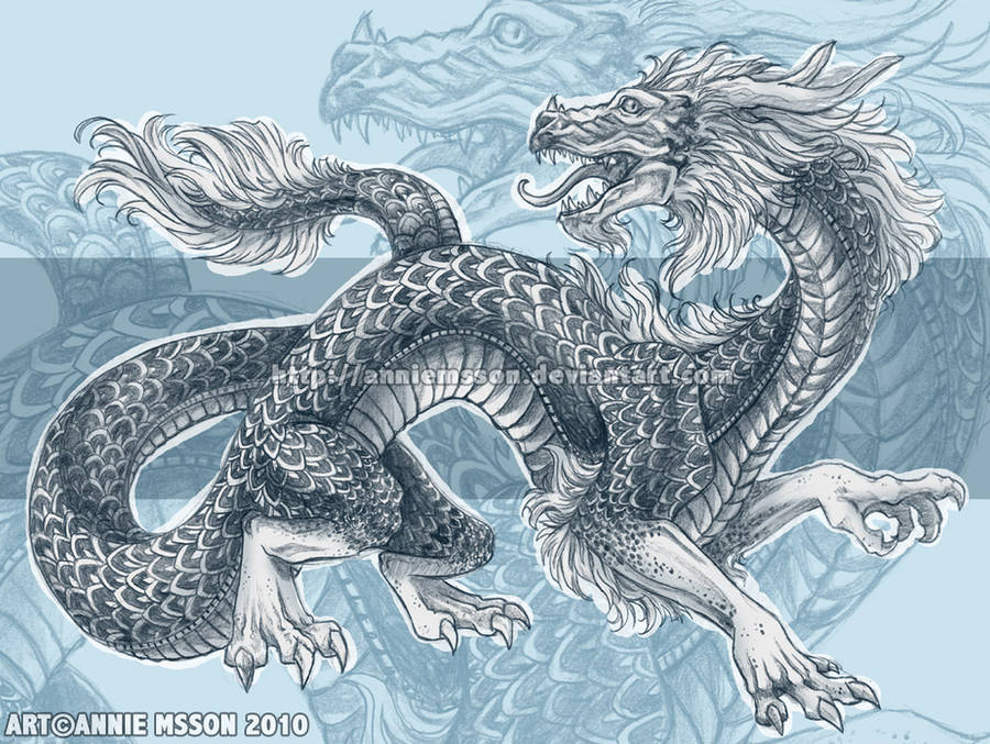 Dragon sketch by AnnieMsson