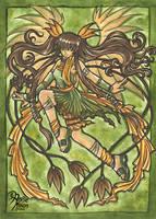 Green fairy by AnnieMsson