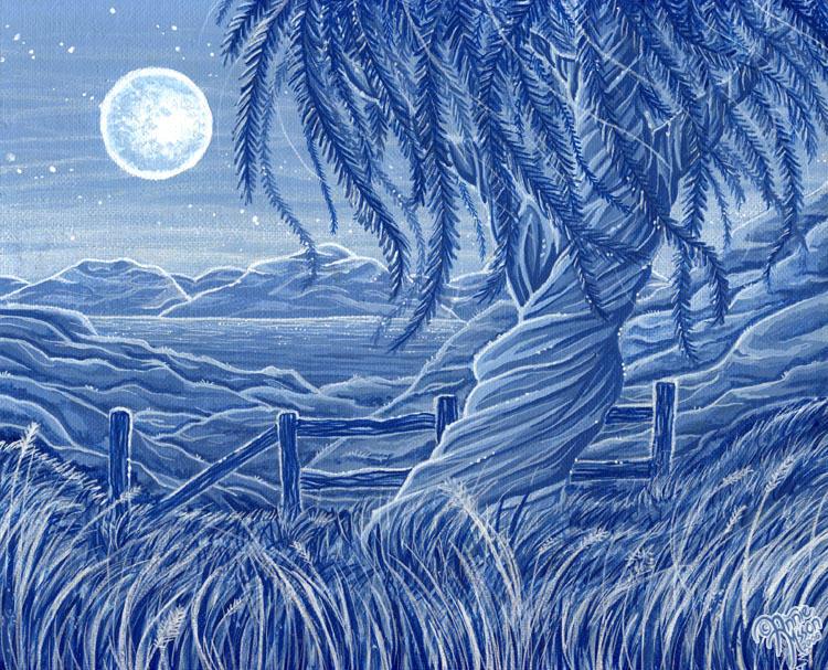 Blue Landscape by AnnieMsson