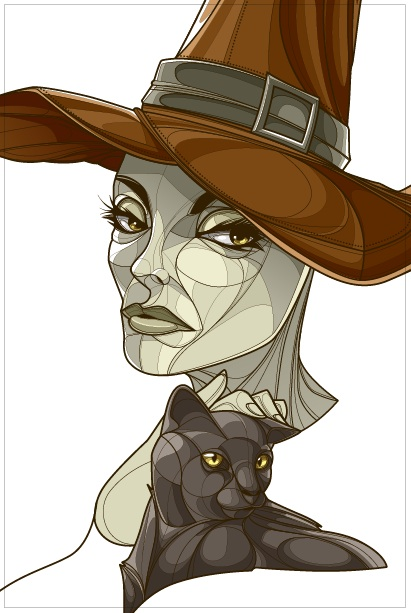 Witch - progress 2 by CrisVector