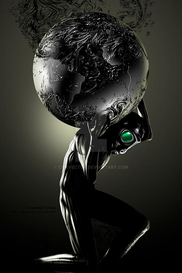 Oil Planet by CrisVector