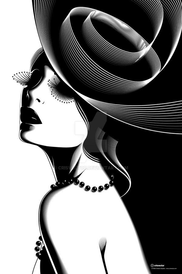 Le Chapeau Noir by CrisVector