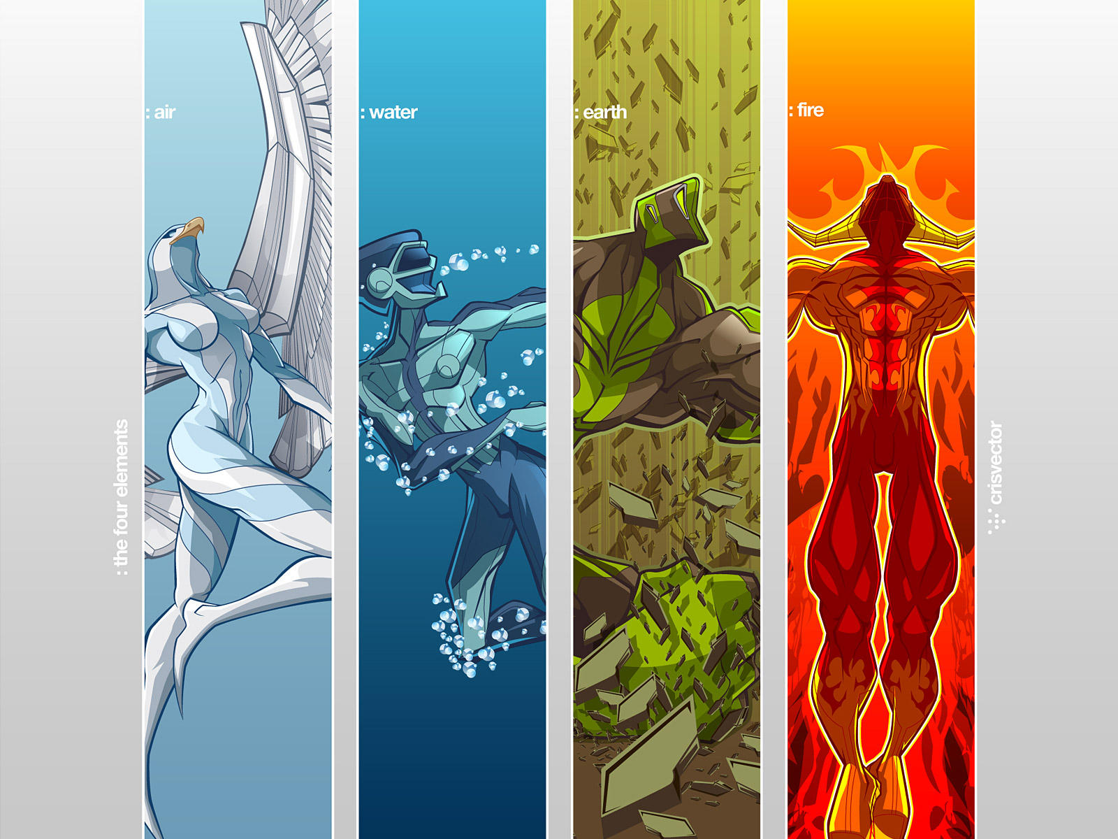All Elements Of Art : Four elements wallpaper by crisvector on deviantart