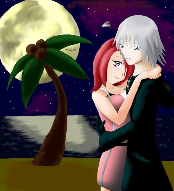 Riku and Kairi at midnight by Jemmy-sama