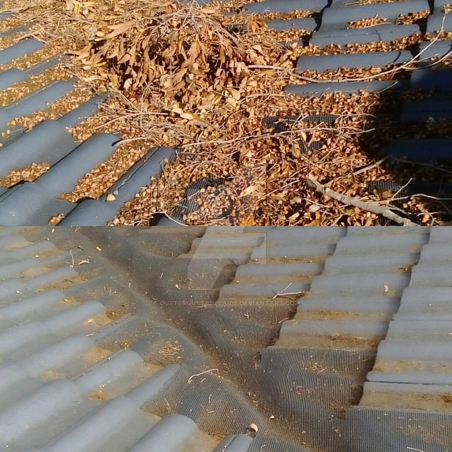 Cleaning Gutters With Gutter Guards by GutterGuysAdelaide ...