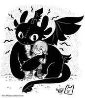 How to Train Your Dragon Hug by SaltyMoose