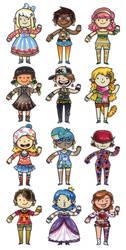 Girly Pattern Girls by SaltyMoose