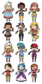 Girly Pattern Girls