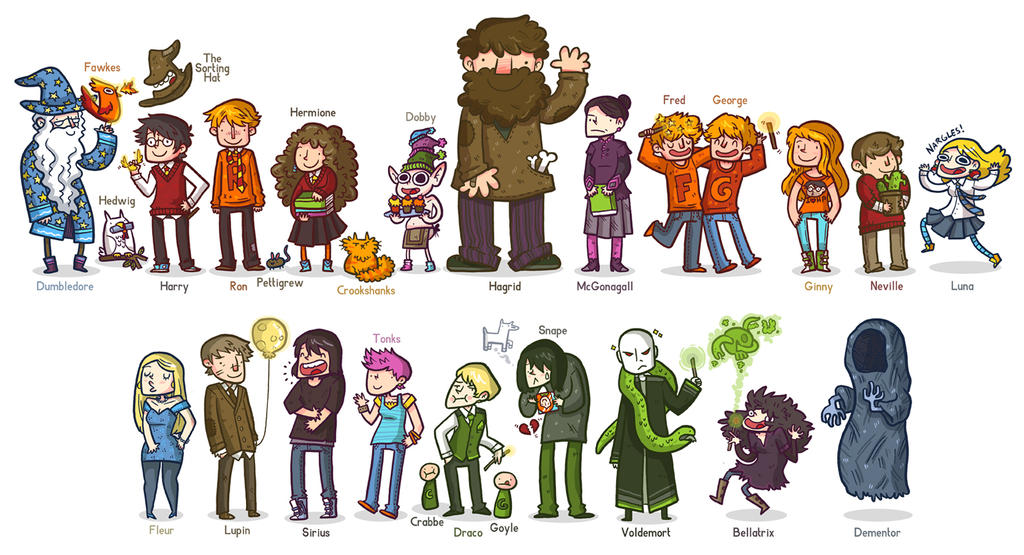 Cartoon Characters Houses : Harry potter characters by saltymoose on deviantart