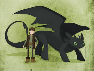 HTTYD: Boy and Dragon by erinwitzel