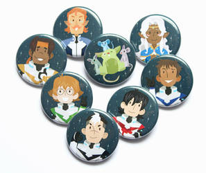 Voltron Illustrated Pins- GIVEAWAY by erinwitzel