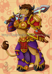 Commission - PeM - TankPaladin by LadyRosse