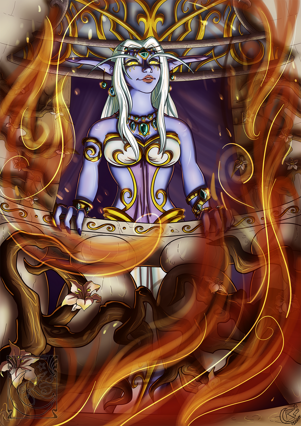 Queen Azshara - Everything is perfect... by LadyRosse