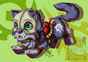 Chibi Mount - Orgrimmar Wolf by LadyRosse