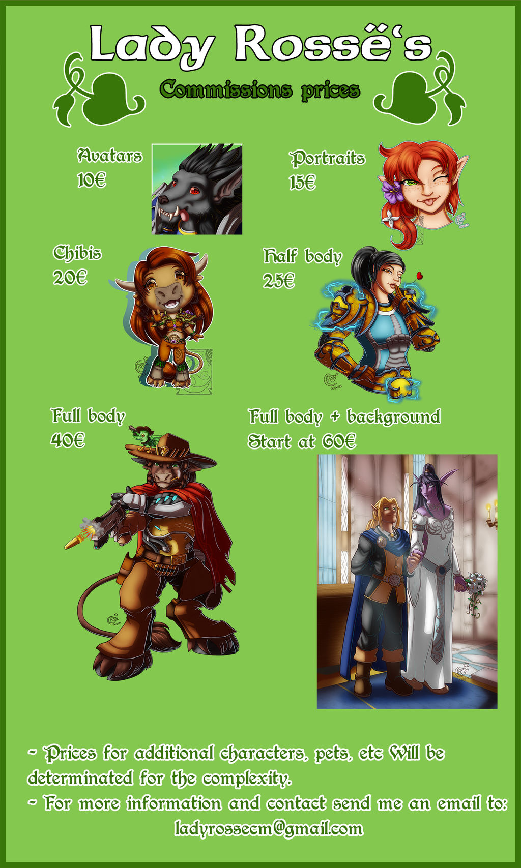 Commissions Prices (OPEN) by LadyRosse