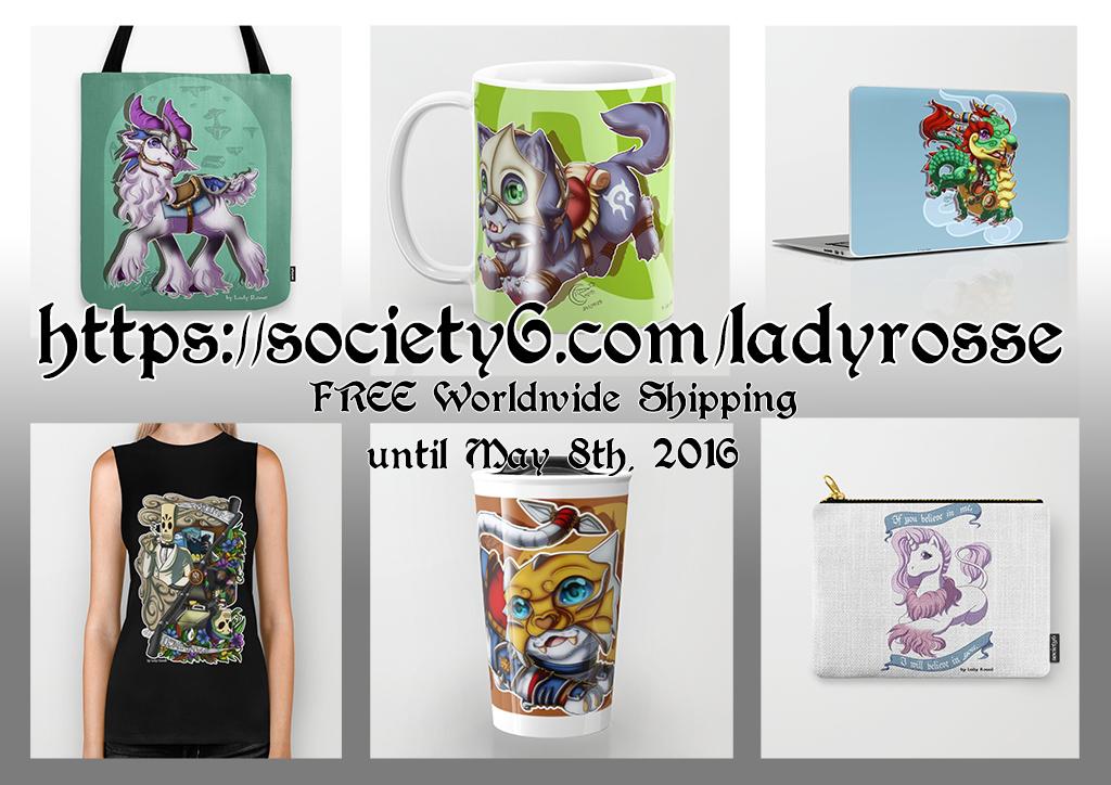 Society6 shop promo 2 by LadyRosse