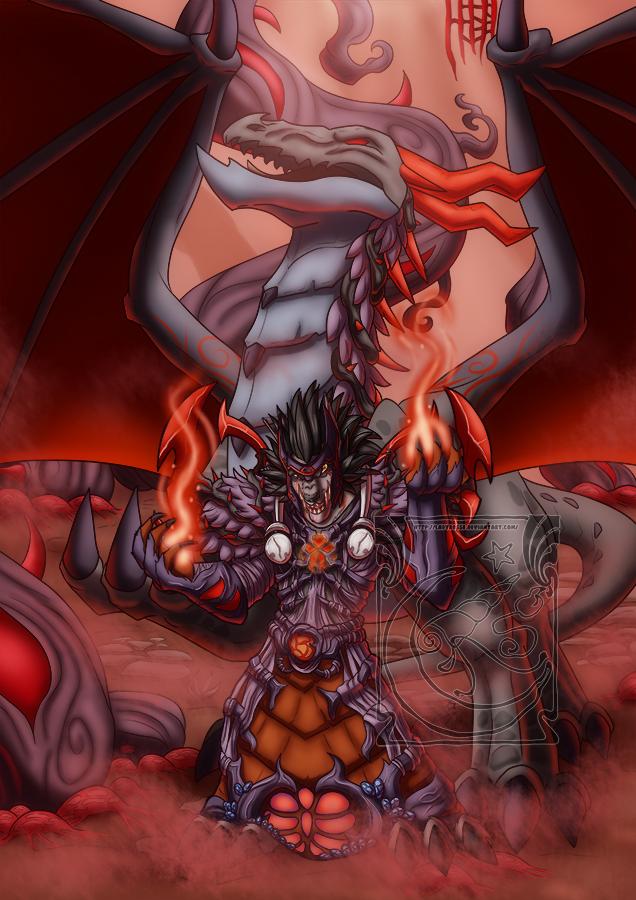 CM - Nightmare dragon by LadyRosse