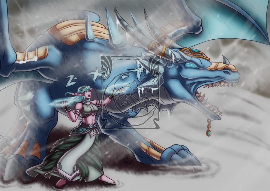 CM - Blue dragon by LadyRosse