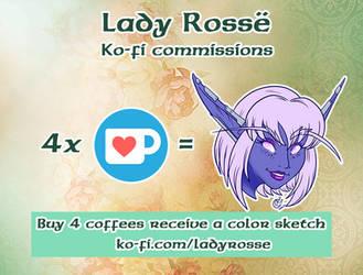 Ko-fi Sketches by LadyRosse