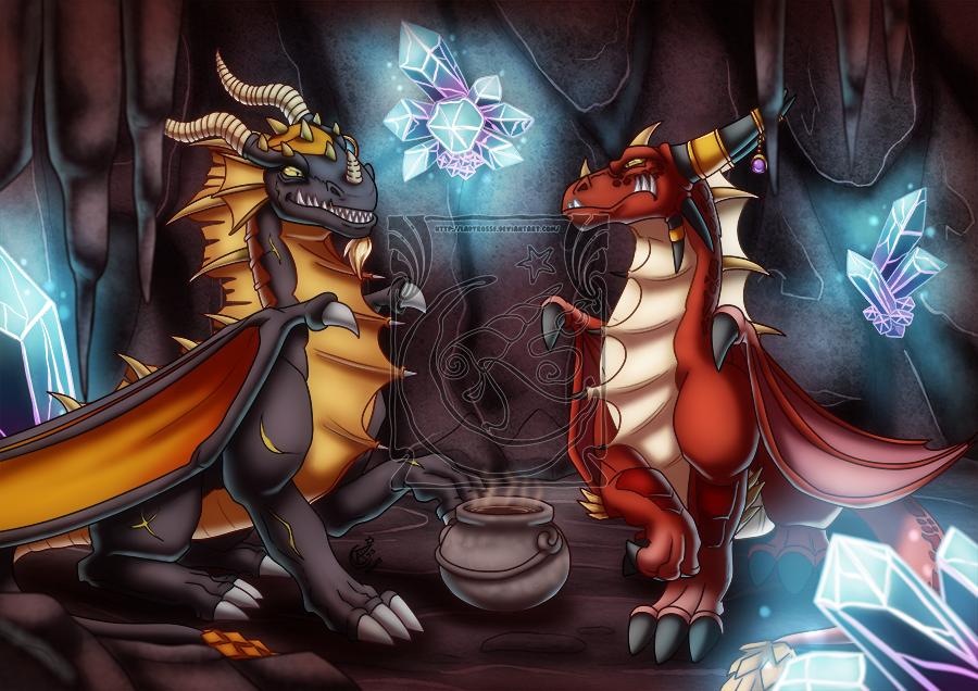 CM - Sharing tea by LadyRosse
