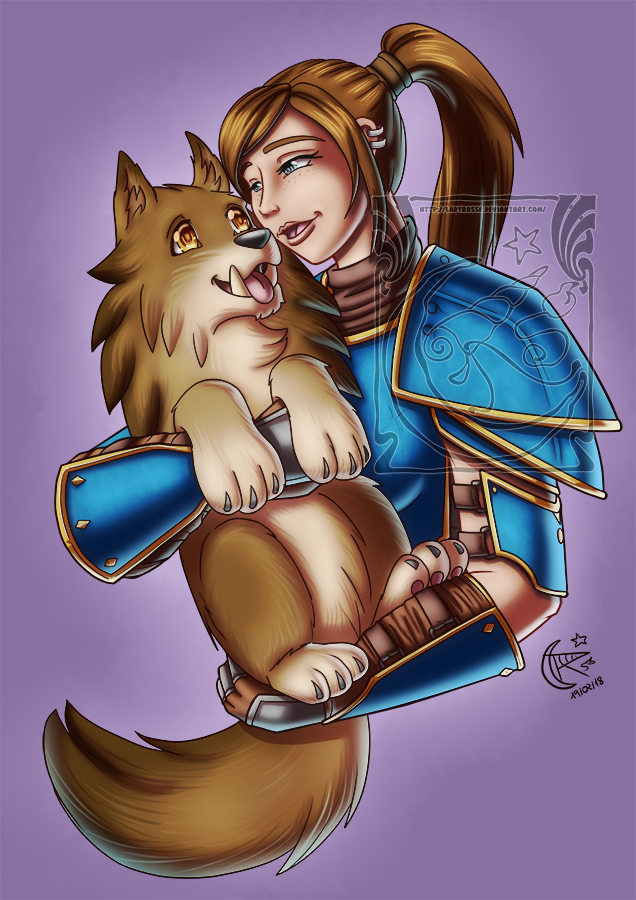 CM - Human and pet by LadyRosse