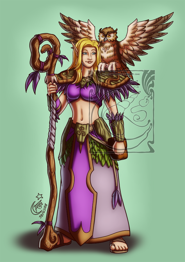 CM - DnD druid elf by LadyRosse