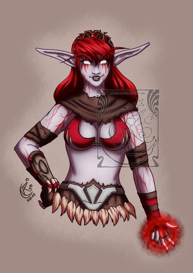 CM - Nightelf druid by LadyRosse